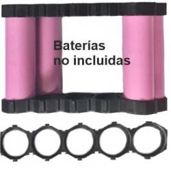 Soporte, Bastidor Porta Baterías 21700 5 celdas