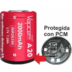 Baterías de Litio 26350 3.7v 2000mA Vapcell