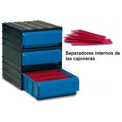 Cajas Modulares de pared 3 cajones