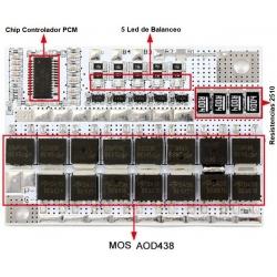PCM 3S para Baterías de LiFePo 9.6v.80-100A