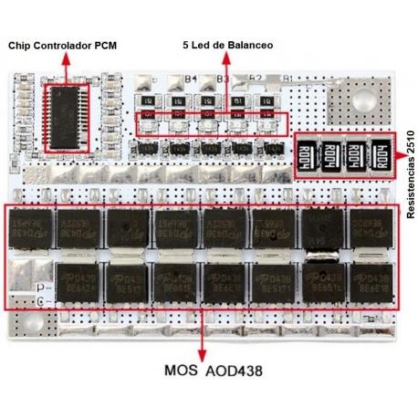 PCM 4S para Baterías de LiFePo 12.8v.80-100A