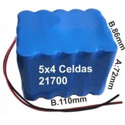 Pack de Baterias con celdas Samsung INR21700-50E