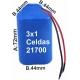 Pack de Baterias 3x1 celdas 21700