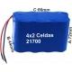 Pack de Baterias 4x2 celdas 21700