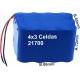 Pack de Baterias 4x3 celdas 21700