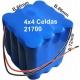Pack de Baterias 4x4 celdas 21700