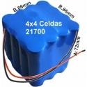 Pack de Baterias con celdas Samsung INR21700-40T