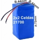 Pack de Baterias 2x2 celdas 21700