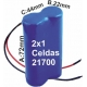 Pack de Baterias 2x1 celdas 21700