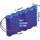 Pack de Baterias 6x1 celda 21700