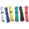 Cable Precortado y estañado AWG22 de 10cm, 100 unidades
