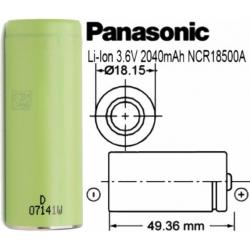 Baterias Litio Panasonic NCR18500A 3.6v 2.040mAh