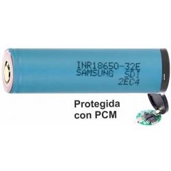 Batería Samsung INR18650-32e Litio 3100mAh 3.6v