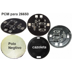 Circuitos PCM BMS Redondos para Baterías Litio 26650, 26700, 26500, 25500