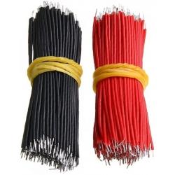 Cable Silicona Precortado y estañado de 5cm, 100 unidades