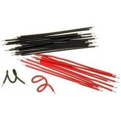 Cables Precortados y estañados de 10cm, 500 unidades
