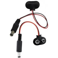 Adaptador Conector Jack 5.5x2.1mm a Clip 9v