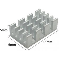 Disipador Térmico de púas de Aluminio 15x9x5mm