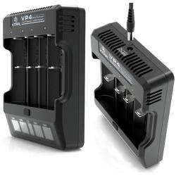 Cargador de Baterias de Litio XTAR VP4, 4 bahías