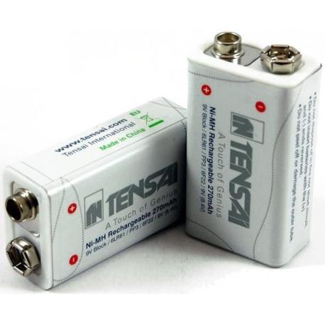 Batería de 9v, 270mAh (8.4V) NiMh