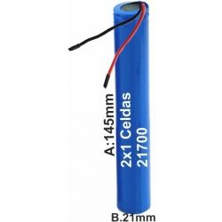 Pack de Baterias 2 Celdas Tubo