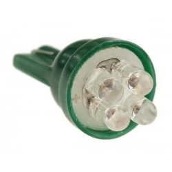 LED T10 4 Led 12v Verde