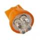 LED T10 4 Led 12v Ambar
