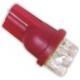LED T10 4 Led 12v Rojo