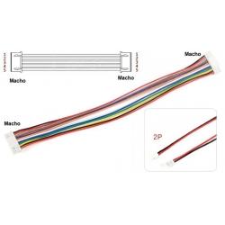 JST GH Polarizados 1.25mm Macho-Macho con Cables 2P