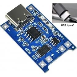 Cargador USB-C para baterías de Litio 5v. 1.2A