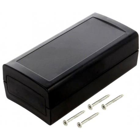 Caja de montaje con frontis 120x60x40mm Negro
