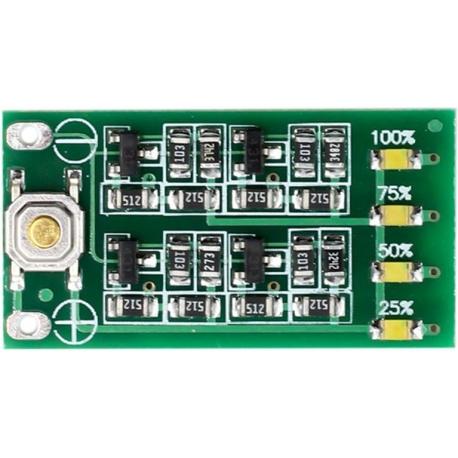 Medidor de Capacidad para Baterías de Litio con 4 led SMD