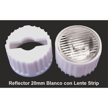 Reflector con Lentes de 20mm Strip-Eliptica