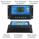 Controlador de Carga para Baterías de Placas Solares 12-20v 20, 40, 60A