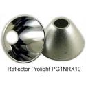 Reflector de 26mm Metalizado para Led Cree