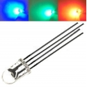 Led RGB 4 pin 5mm water clear (transparente)