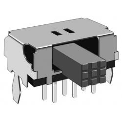 Interuptor deslizante acodado 10x6x5m 2C-2pos.