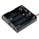 Portapilas baterías 4 x AAA, LR03, R3, 10440