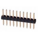 Tira de postes (Pines) macho paso 2.54mm Recto