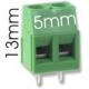 Borna 2Pin 13mm verde