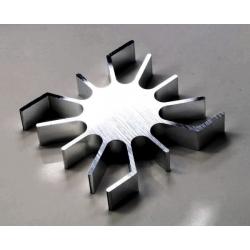 Radiador Disipador térmico de aletas de 50mm