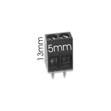 Borna 2Pin 13mmx5mm negro
