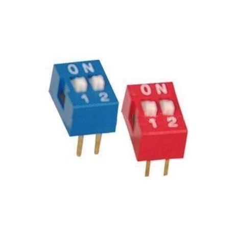 Switch Mini Dip circuito impreso 2 circuitos