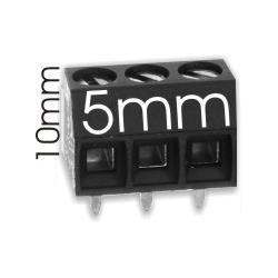 Borna 3Pin 10mmx5mm negro