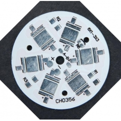 Pcb redondo 45mm para 6 Led CREE-Lumiled