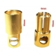 Conector Power 6mm Gold Plate