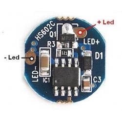 Driver regulador de corriente F1B5 para LED 1.050mA.3.6~4.2v 5 modos
