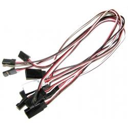 Conjunto cable conector macho y hembra 3 pin
