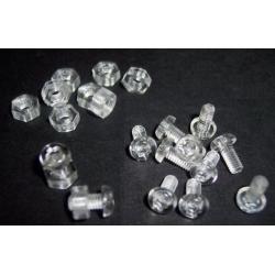 Tornillos y Tuercas transparentes de PVC M3