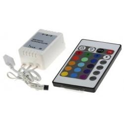 Conjunto Receptor y Mando para Tiras RGB 12v.